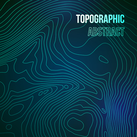 Topographic map colorful abstract background with contour altitude lines
