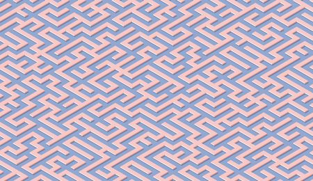 Maze pattern abstract background with colorful labyrinth for mobile lock screen, poster or wallpaper Illustration