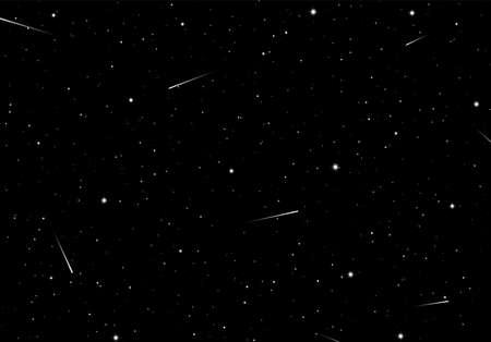 Sfondo astratto con stelle come modello o elemento di design per la notte stellata o carta spazio scienza Vettoriali