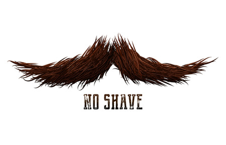Mustache sign or label as a symbol of masculinity and hipster movement