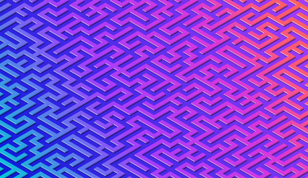 Maze pattern abstract background with vibrant colorful labyrinth for mobile lock screen, poster or wallpaper