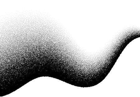 Abstrait avec dégradé ondulé de points épars Vecteurs