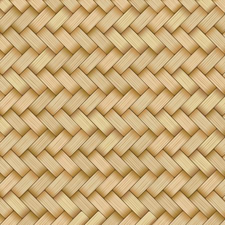 Estera de caña con textura tejida de pajitas amarillas o marrones rayados