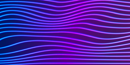 Neon lines background with glowing 80s retro vaporwave or synthwave style