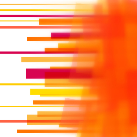 Vector background with orange lines and blurred edge