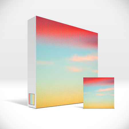 3D Identity packaging box with abstract sky cover 版權商用圖片