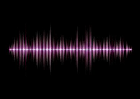 Forma de onda de música de glamour rosa con picos afilados