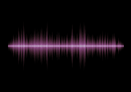 Pink glamour music waveform with sharp peaks Stok Fotoğraf