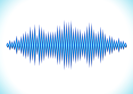 Blue shiny sound waveform with sharp peaks