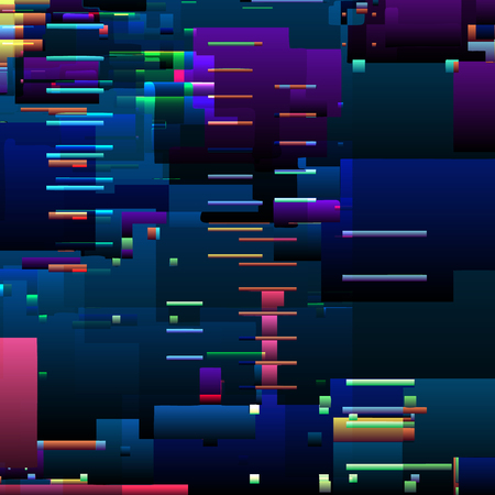 Abstract glitch background with colorful pixel error lines and digital graphic defects