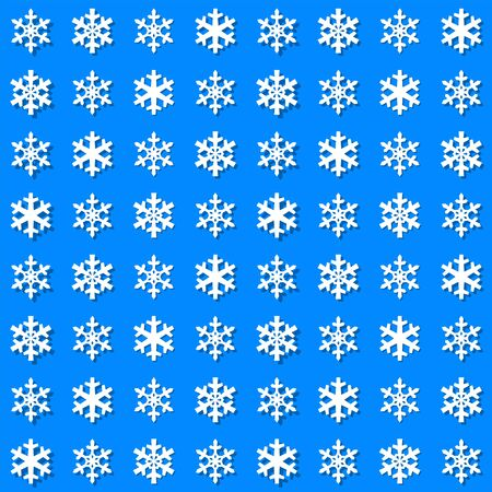 Christmas snowflakes seamless pattern with geometric tiled grid and beautiful snow ornament for winter holidays packaging