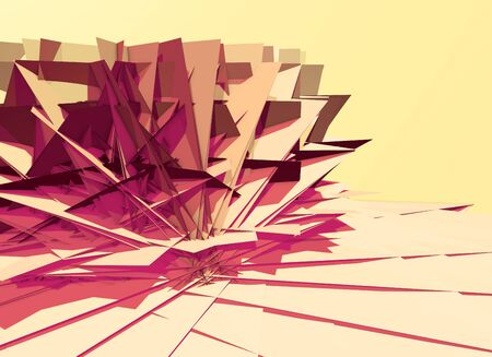 Abstract 3D background with polygons structure, chaotic and sharp