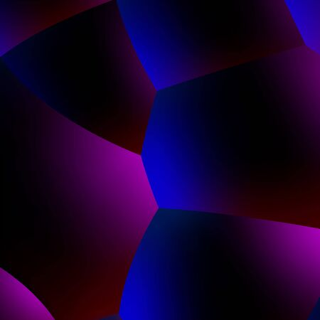 Abstract background with neon glowing dark balls or foam in 80s synthwave style, blue and purple colors and retrowave illumination