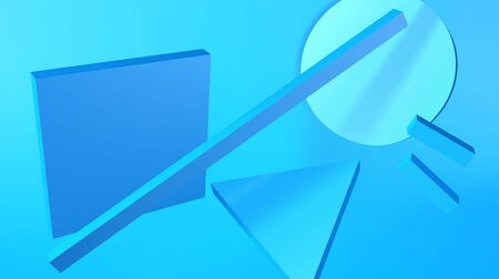 Abstract background with blue shapes in modern avantgarde or bauhaus style