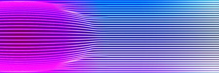 Neon lines background with glowing 80s retro synthwave style Ilustração