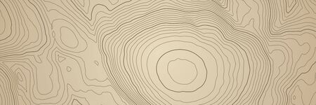 Abstract topographic map background with brown height lines Illusztráció