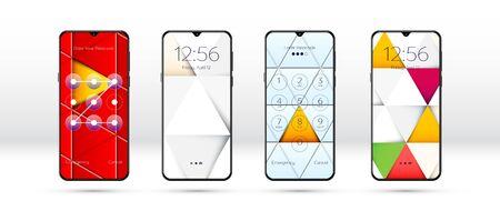 Lock screen background or common smartphone wallpaper Illusztráció