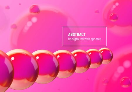 Abstract background with purple balls flying in perspective for science and business wallpaper
