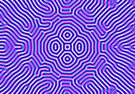 Abstract background with optical illusion generative pattern and vibrant fluid psychedelic colors