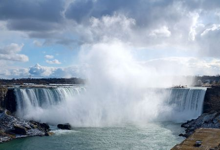 Niagara Falls from Canadian bank photo