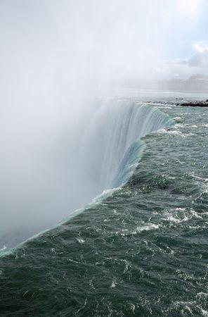 cutting edge: Cutting edge of Niagara Falls falling water