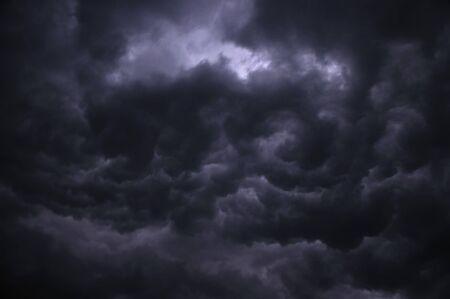 Dramatic gray storm sky