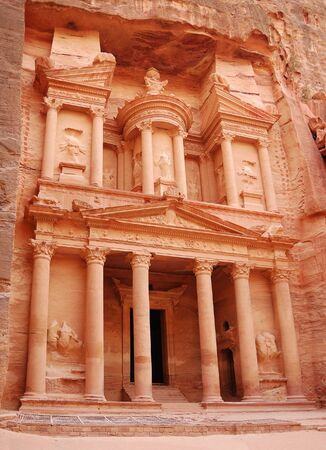 View of ancient temple in Petra photo