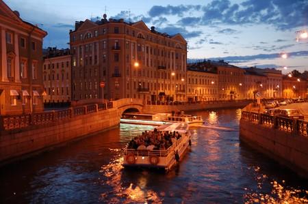 Night St. Petersburg canel trip