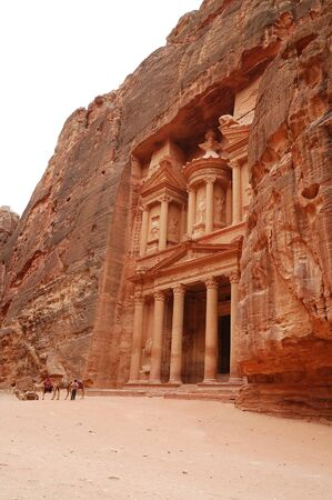 View of ancient temple in Petra