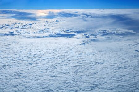 seething: Cute cloudscape with sunset viewed from a plane