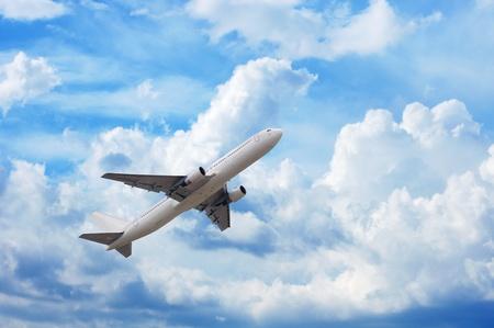 airplane in cloudscape
