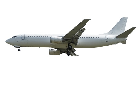 passenger airplane isolated over white background
