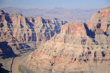 helicopter flying through the Grand Canyon Stock Photo - 11385068