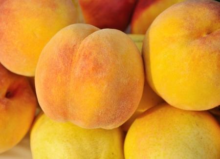 bevoelen: perziken close-up het frame vult Stockfoto