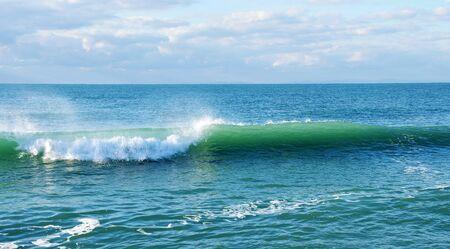 splutter: Samitransporant ocean Wave with white foam