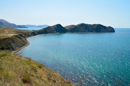 crimean: Crimean mountain landscape with Chameleo cape
