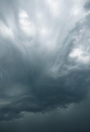 impressive: impressive gray storm clouds in the sky Stock Photo