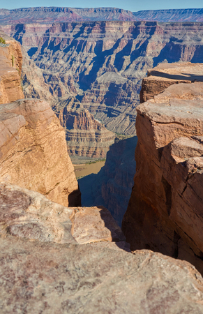 deepness: Colorado river in the deepness of  Grand Canyon