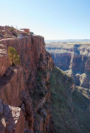 steep: Mountain landscape. Steep cliffs of Grand Canyon
