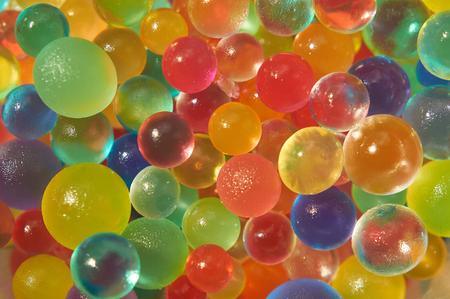 paletas de caramelo: Fondo hecho con las bolas dispersadas del gel del color