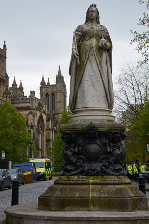 Monument to the queen and empress Victoria near the Bristol Cathedral