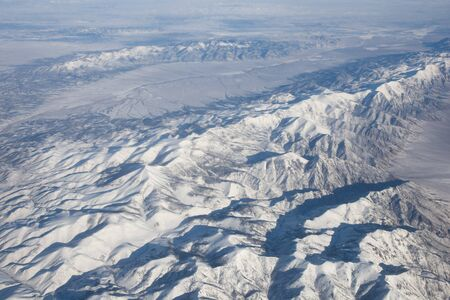 Desert Mountains of Nevada (supposedly) viewed from airplane