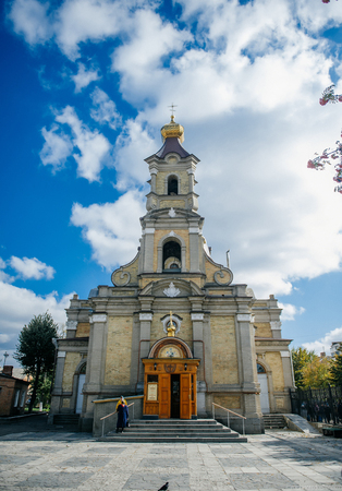Orthodox baptism in the Church of the Babies in Ukraine and Russia icons and church attributes