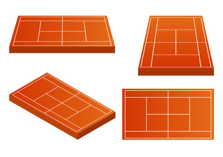 Tennis field with multiple viewing angles Vettoriali