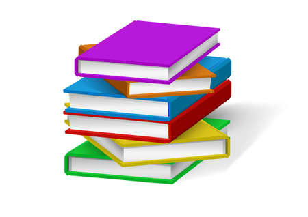 Realistic books stack isolated. Vector illustrations. Ilustração Vetorial