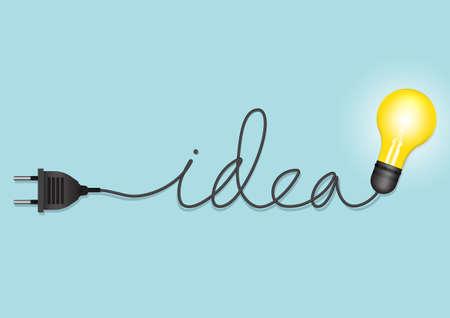 light bulb idea creative concept. Vector illustration