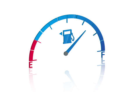 Fuel Gauge icon with 3d style