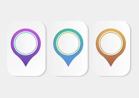 Circle infographics template design vector