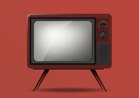 Realistic retro television illustration isolated Illustration