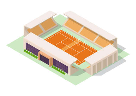 Vector isometric tennis stadium Illustration